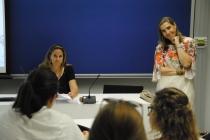 Loreto Spá, arquitecto, y Ana María Romero, filósofa, coordinaron la sección del diálogo con la belleza.